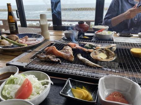 해물 구이 점심