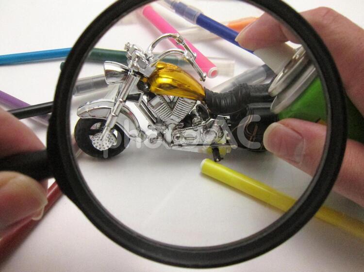 オートバイの塗装の写真