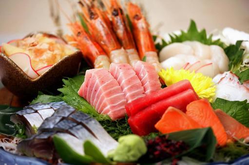 Japanese food Sashimi platter