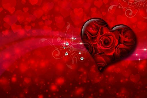 Rose heart and full of hearts_Valentine background material