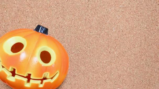 You can put a cute pumpkin message (horizontal) | Background material