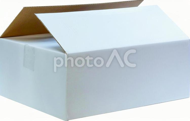 [psd] 白い段ボール箱 開き 4732 背景透過の写真