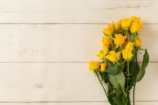 노란 장미 꽃다발