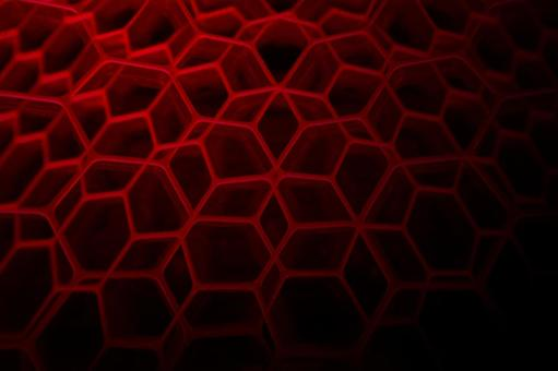 Honeycomb structure background - dark red