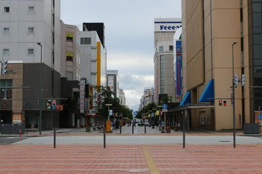 Asahikawa station square street