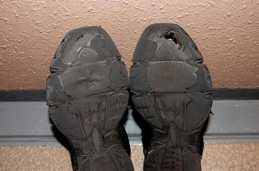 Worn out jogging shoes 2