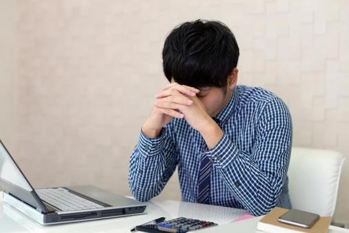 Discouraged businessman