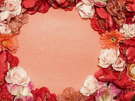 秋天的花框