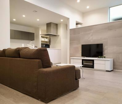 Newly built modern and calm living room