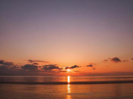 Sunrise and the sea