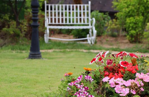 가정 정원 풍경