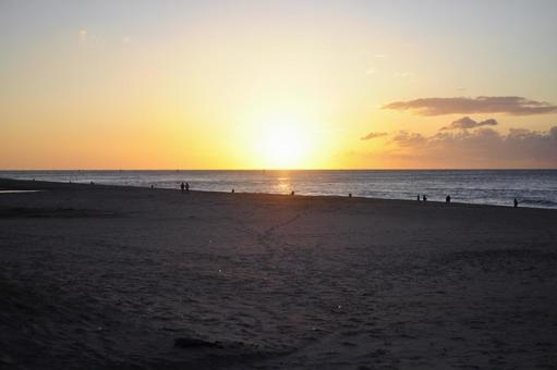 伊古部 해안 일출 아침 해변