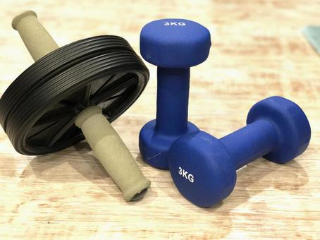 Dumbbell and roller