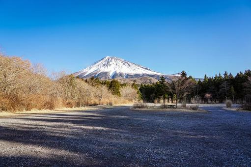 겨울의 후지산 스카이 라인 (西臼塚 주차장)에서 후지산의 전망