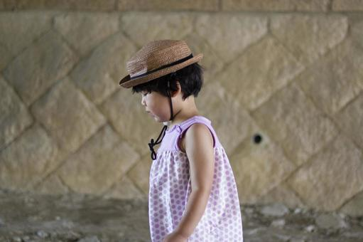 Girl in straw hat 1
