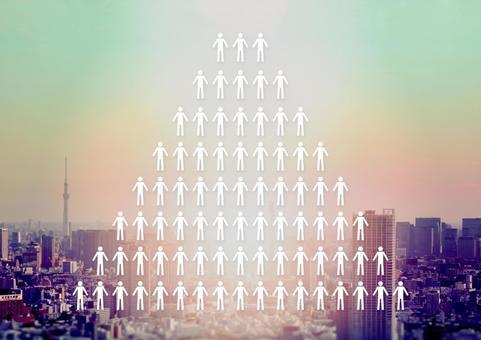 Person silhouette pyramid