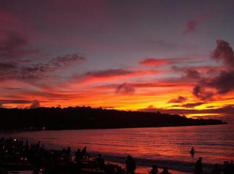 Sunset from Bali Jimbaran Beach 006