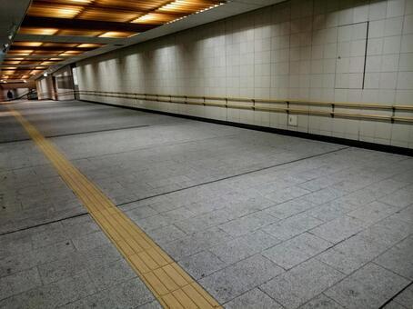 Underground passage of the station