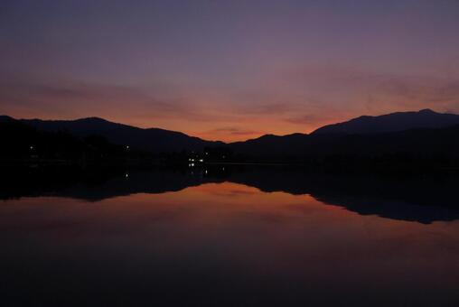 廣澤的池塘日落3