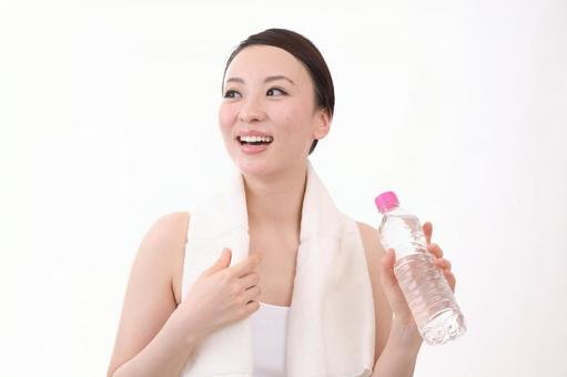 Female with plastic bottle 7