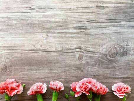 Tree background and carnation