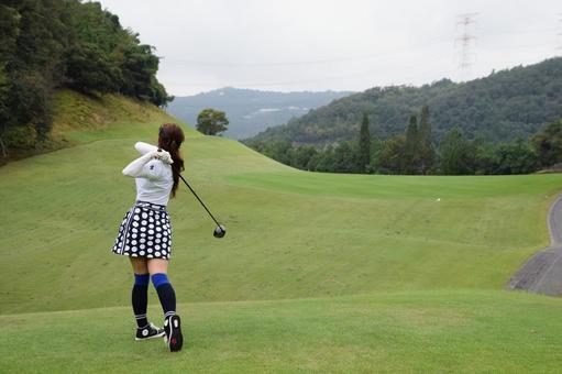 Golf Girl 12 Teeing