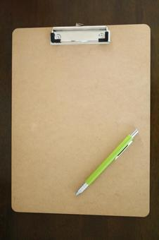 Binder and pen