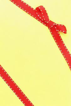 丝带的红丝带纹理背景黄丝带结