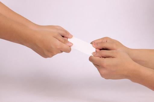 Hand parts (business card exchange) 6