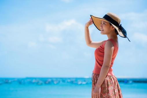 Woman in the sea of Bali