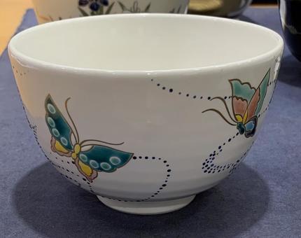 茶杯抹茶茶杯蝴蝶