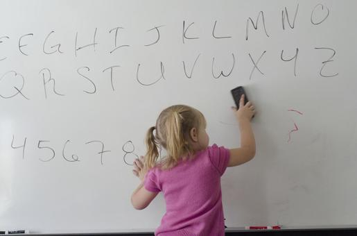 A girl scribbling 13