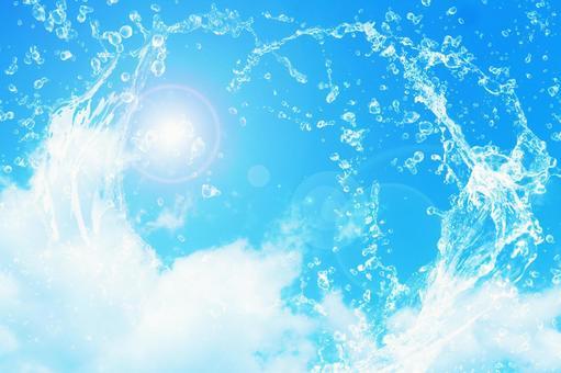 Splashing splashes and blue sky series 02 | Free background image