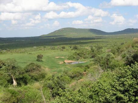 View of Tsavo National Park