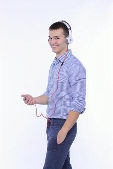 Male listening to music 2