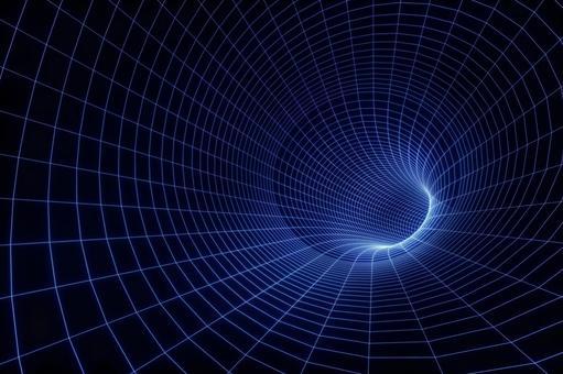 Time tunnel illustration