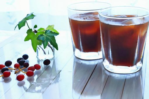 Ice coffee summer coffee break