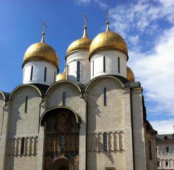 우스 펜 스키 성당, 크렘린, 모스크바, 러시아.