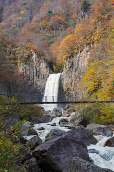 Naena Waterfall in autumn colors