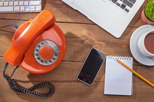 Retro phone and smartphone 1