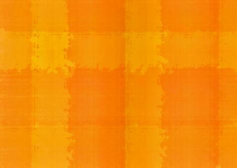 Watercolor check pattern Orange