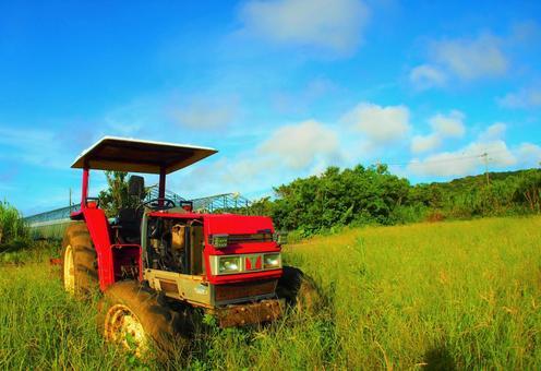 Kikaijima scenery and tractor