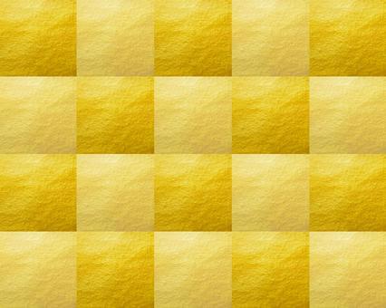 Gold leaf checkered pattern Dark background tile [2]