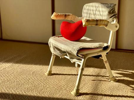 Heart on a nursing chair