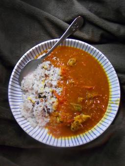 토마토 치킨 카레