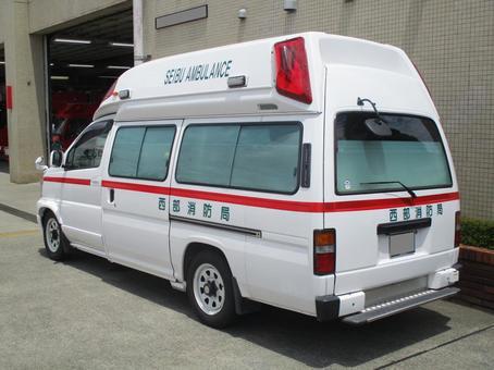 Ambulance back view