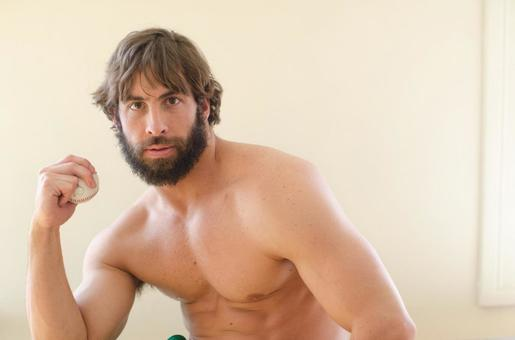 White male fitness model 81