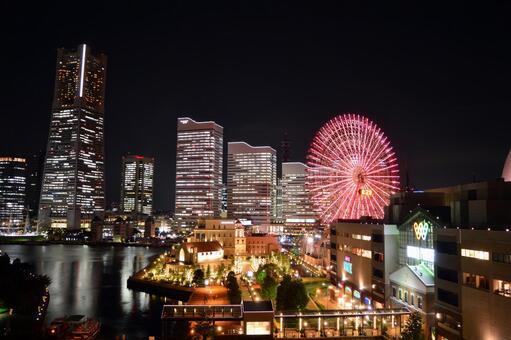 요코하마의 야경