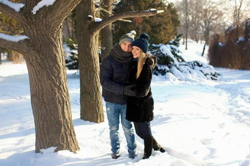Cuddling couple 2