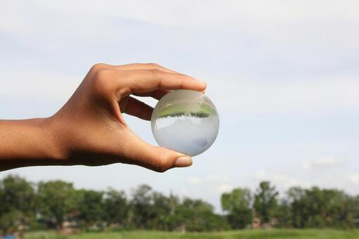 Hand and Crystal Earth